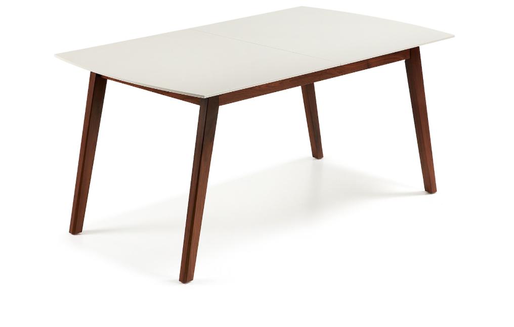 Mesa extensible estilo retro en madera de nogal americano macizo ...