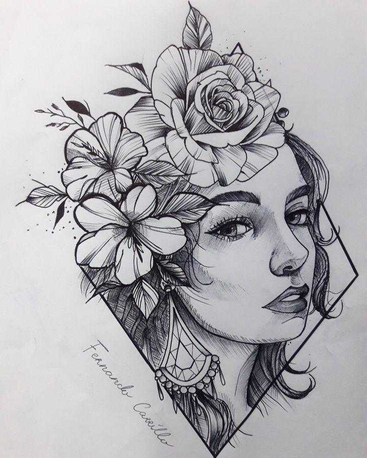 Neo Traditional Design Alexa Alexa Design Neotradition In 2020 Sketch Tattoo Design Pencil Art Drawings Small Tattoo Designs