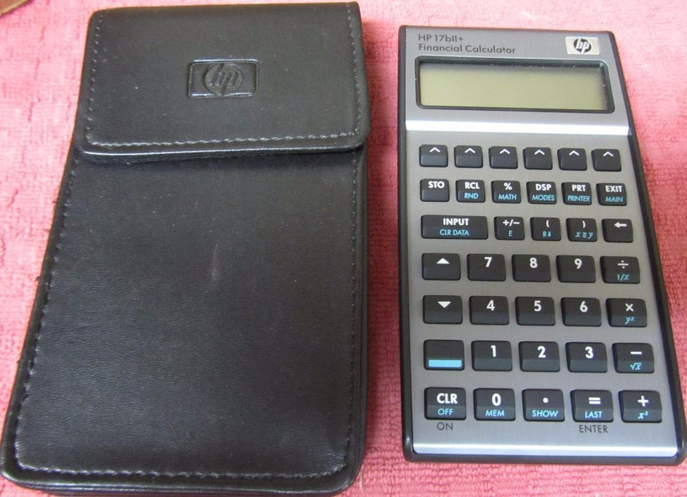 Hp Bll Financial Calculator With Case  Fresh Batteries Tested