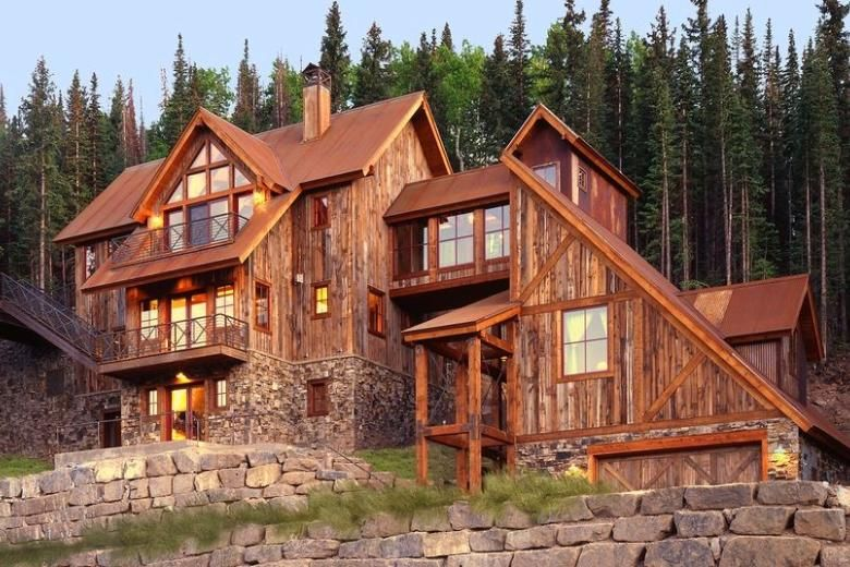 228a Mining Style Mountain Home In Colorado Architect Design Log Homes Colorado Homes