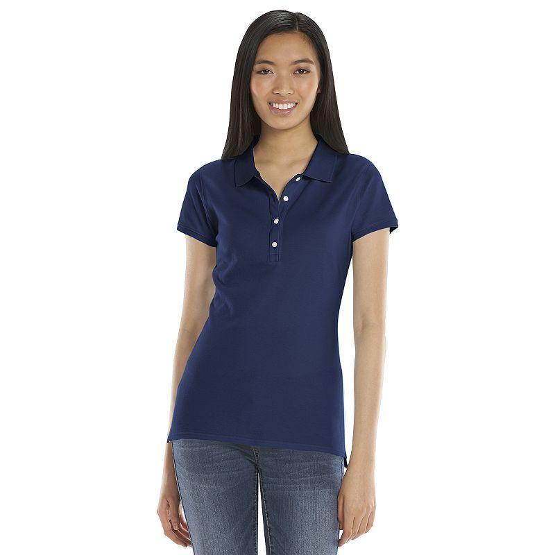 SO® Solid School Uniform Juniors' Polo, Blue