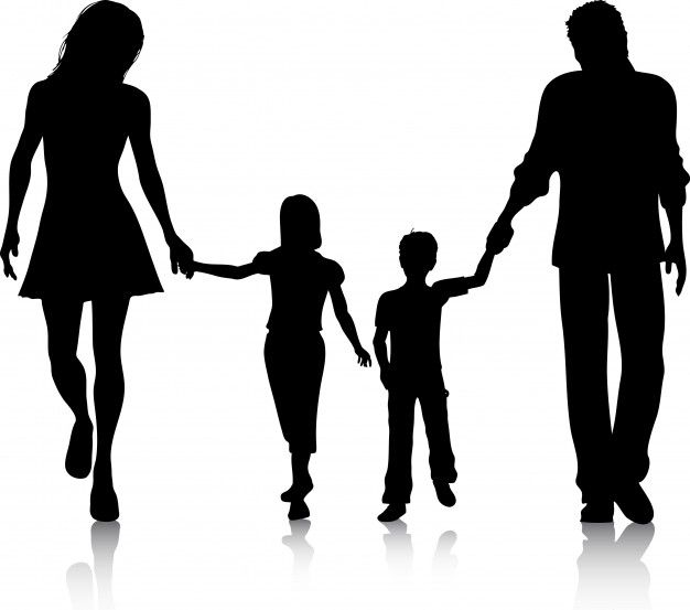 Download Silhouette Of A Family Walking Hand In Hand For Free Silhouette Family Silhouette Silhouette Art