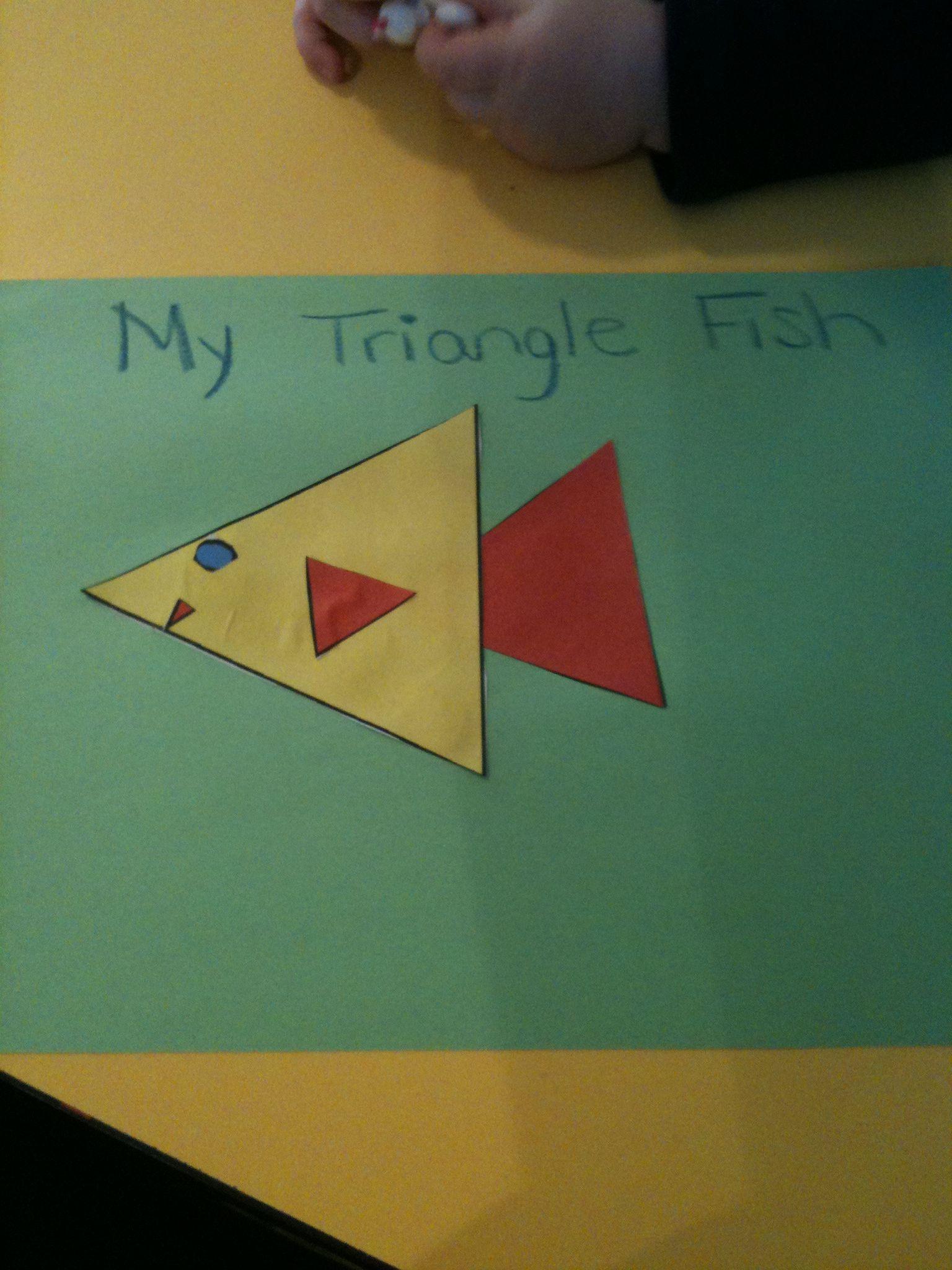 Triangle Fish - reminder | Preschool - Ocean Theme | Fish