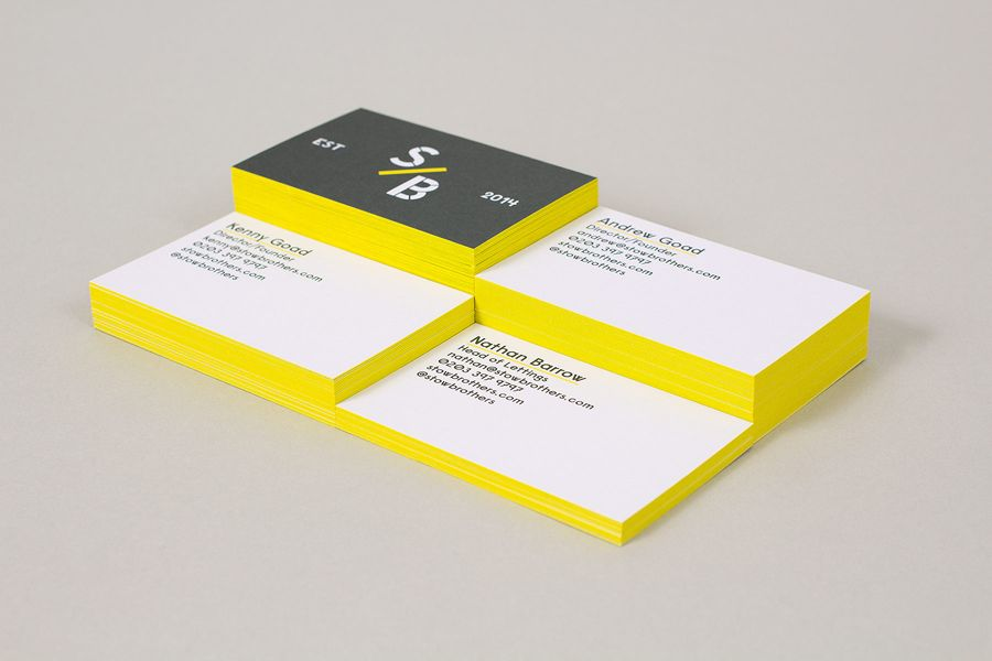 New brand identity for the stow brothers by build bpo east edge painted business card design by build for east london estate agent the stow brothers reheart Image collections