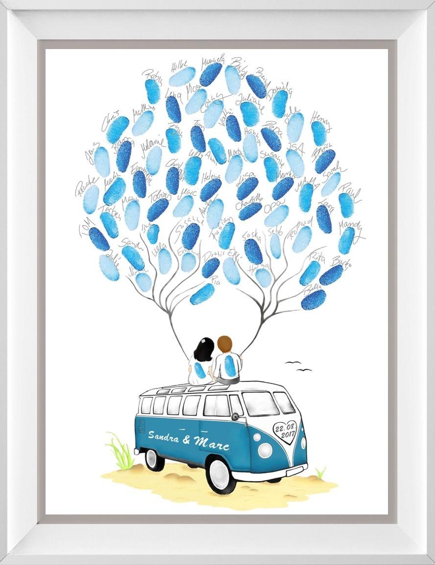 Fingerabdruck Baum & Wedding Tree zur Hochzeit - personalisierte Geschenke #personalizedwedding