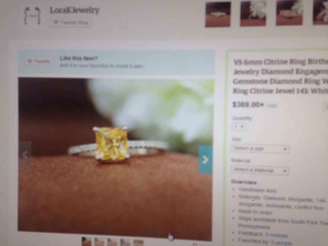 My Absolute Fave Citrine ring! Perfect engagement ring ❤️