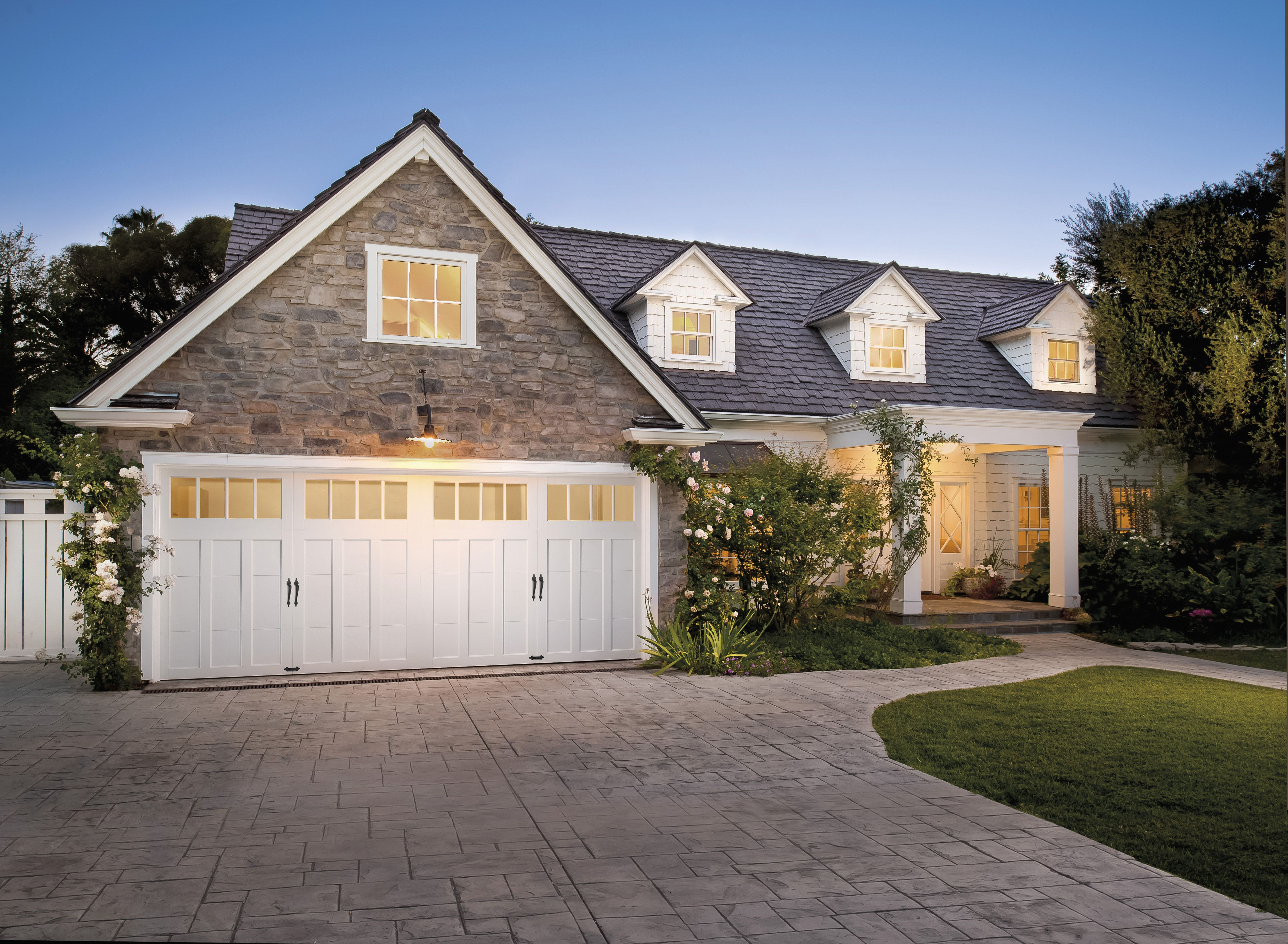 Coachman Collection Design 12 Rec 14 Windows Turns A Normal Traditional Home Int Carriage House Garage Doors Craftsman Style Garage Doors Garage Door Styles