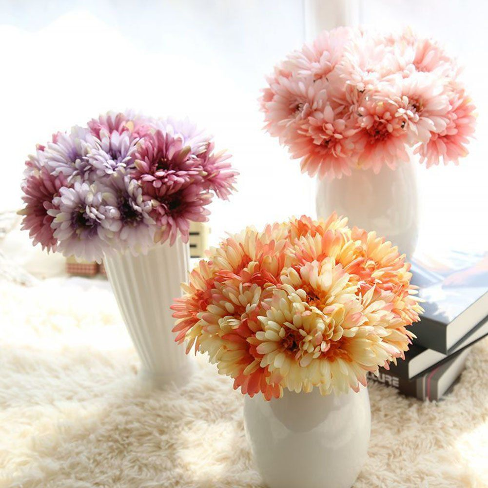 Artificial Gerbera Flower Artfen Artificial Daisy Flowers Bride