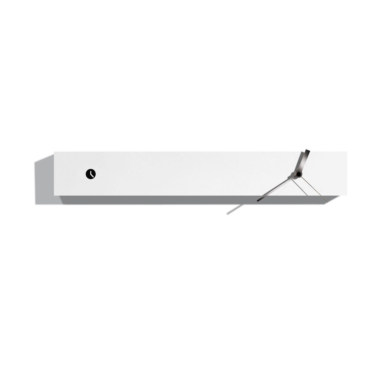 Stunning modern high end designer white horizontal analog wall stunning modern high end designer white horizontal analog wall clock with hands in steel amipublicfo Image collections