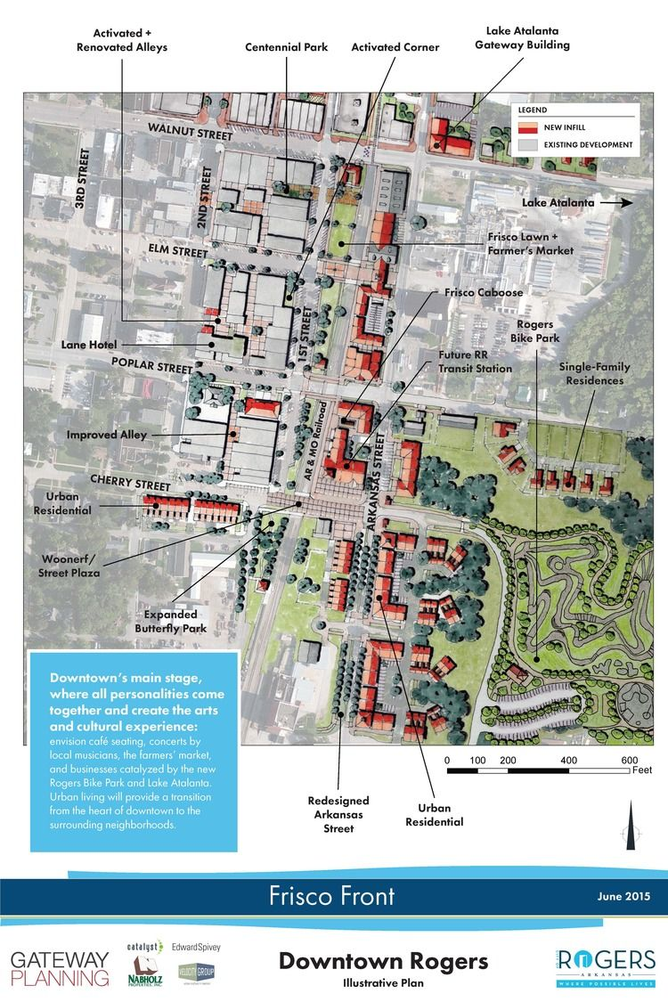 Future Master Plan Map of Downtown Rogers, AR | About Northwest ...
