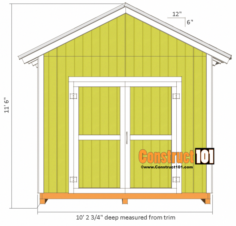 Shed Plans 10x10 Gable Shed Shed Plans 10x10 Shed Plans Diy Storage Shed Plans