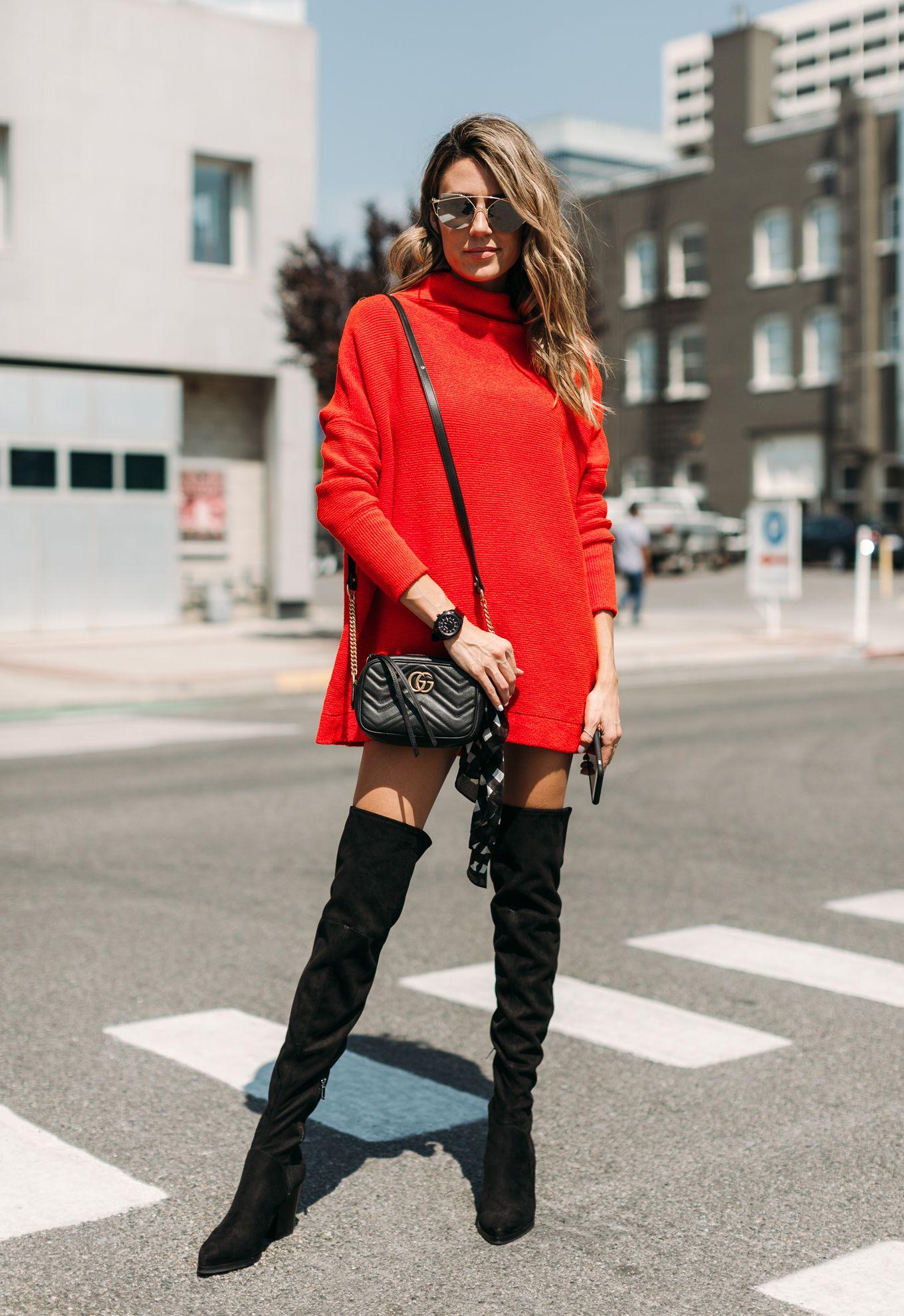 cc057e1d73 Little Red Sweater Dress