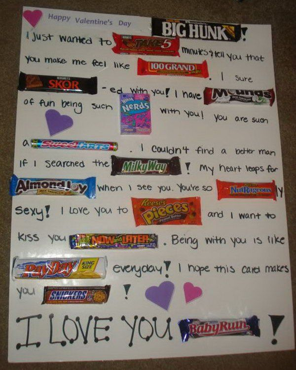 Candy Bar Poster Ideas with Clever Sayings – Homemade Valentine Card Sayings