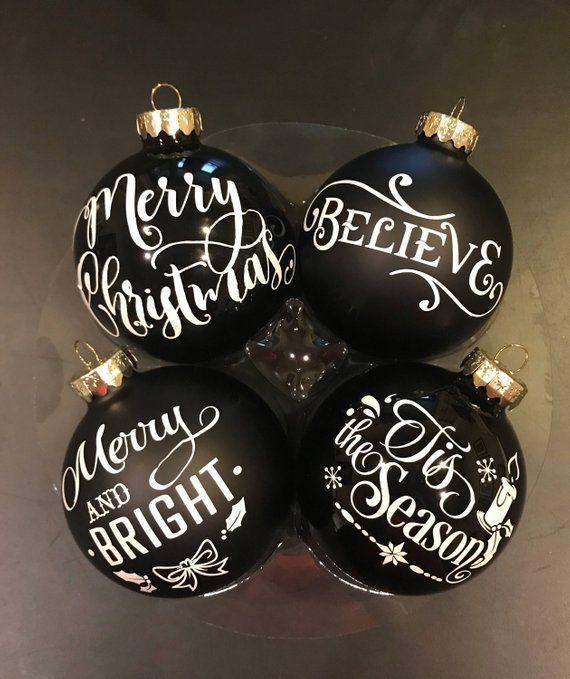 Custom Made Christmas Ornaments Set Of
