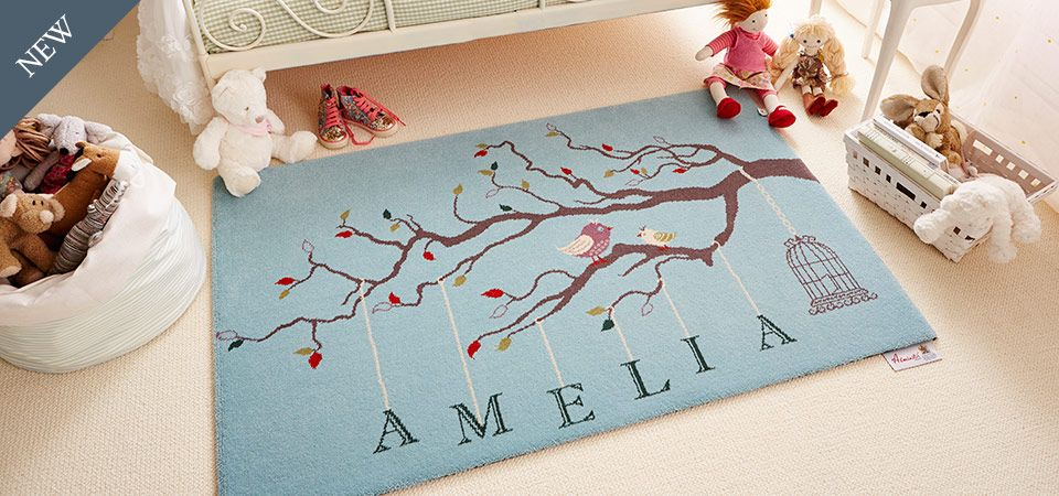Personalised Axminster Rug Perfect For A Childs Nursery Or Playroom