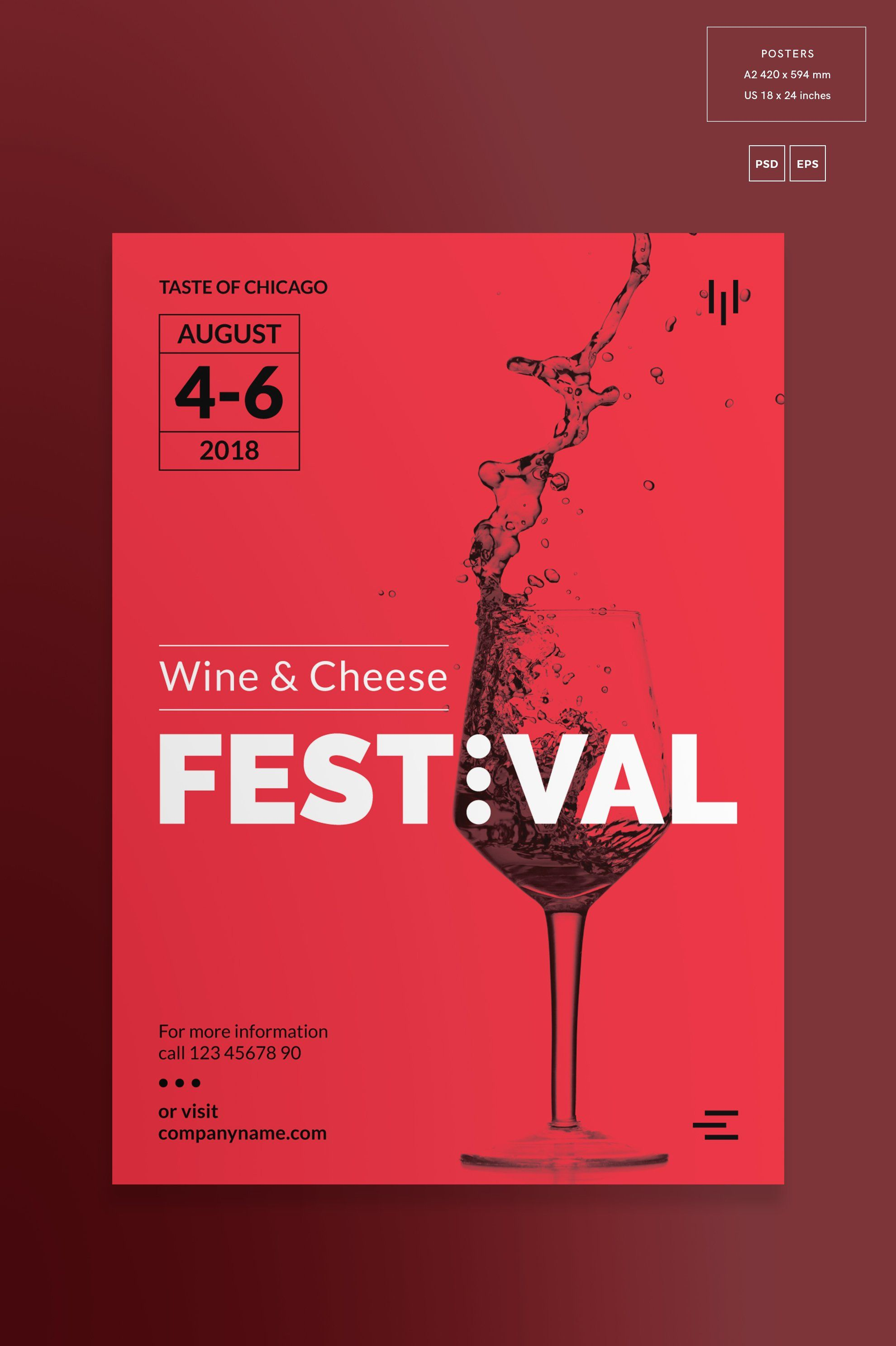 Promo Bundle Wine Festival With Images Poster Template Wine Festival Etsy Shop Banner