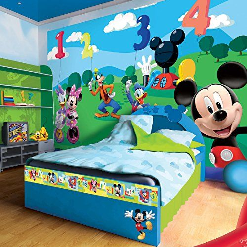 Best Disney Mickey Mouse And Friends Numbers Wallpaper Mural 400 x 300