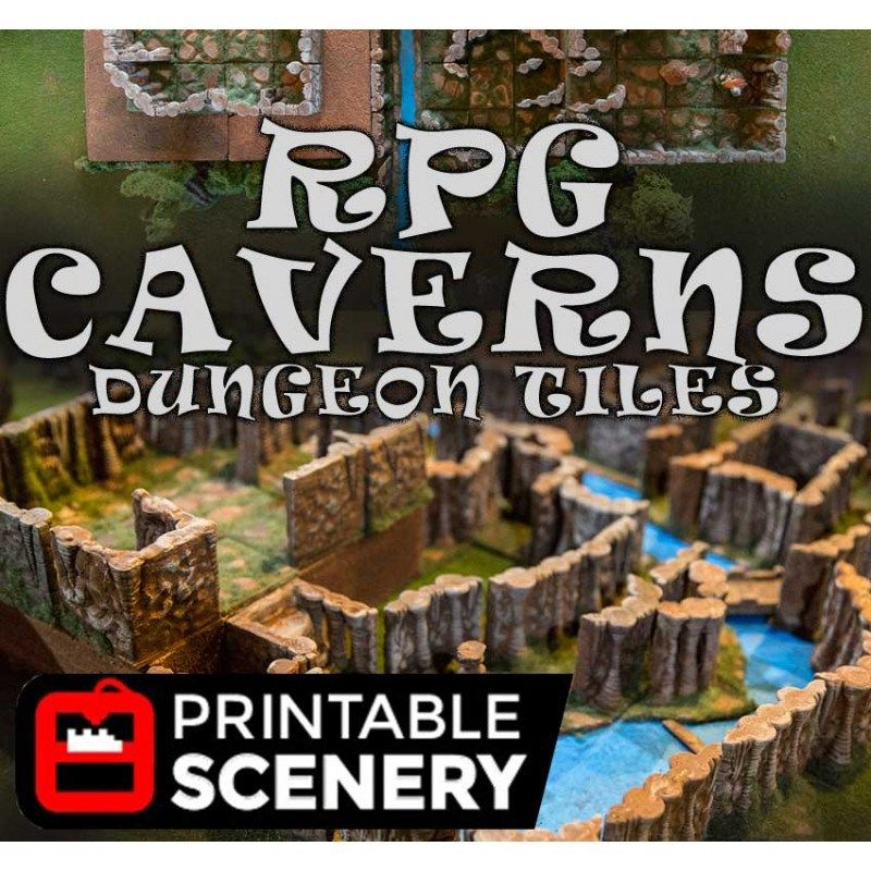 Dungeon Caverns | D&D | Dungeon tiles, Tiles, Printables