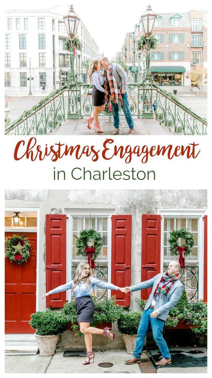 Megan + John A Festive Christmas Engagement in Downtown