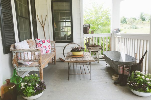 Farmhouse Porch by Heather Banks