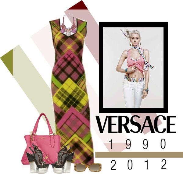 """Dress - VINTAGE VERSACE"" by fashionmonkey1 ❤ liked on Polyvore"