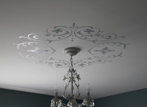 Decorative Wall Or Ceiling Medallion Vinyl Decal Shabby Chic Or