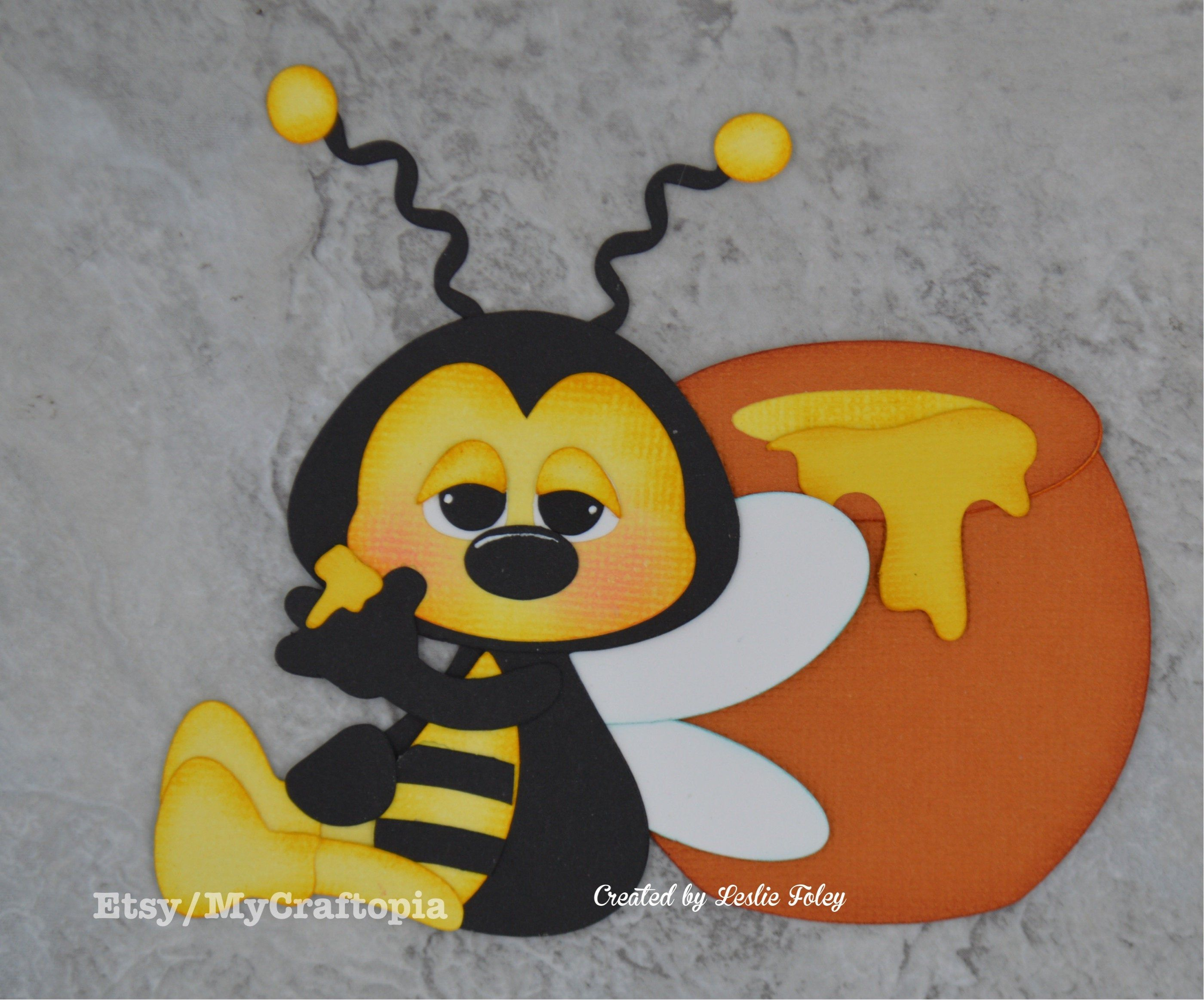 Bumble Bee Hive Pre-Made Die Cut Embellishment Paper-Piecing Scrapbook Card