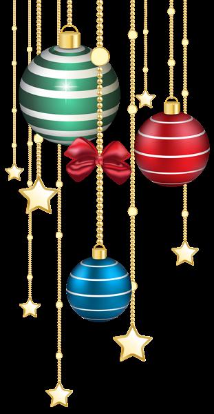 Christmas Balls Decor Transparent PNG Image