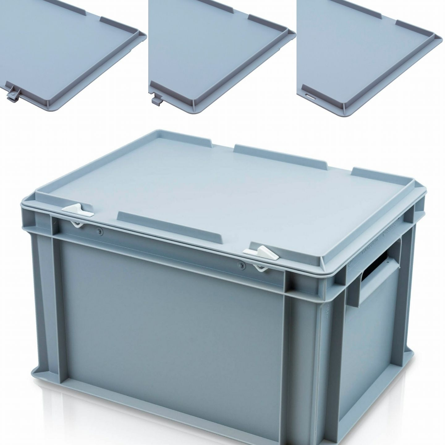 Our Solid Plastic Boxes Come With A Choice Of 3 Lids Hinged Lids