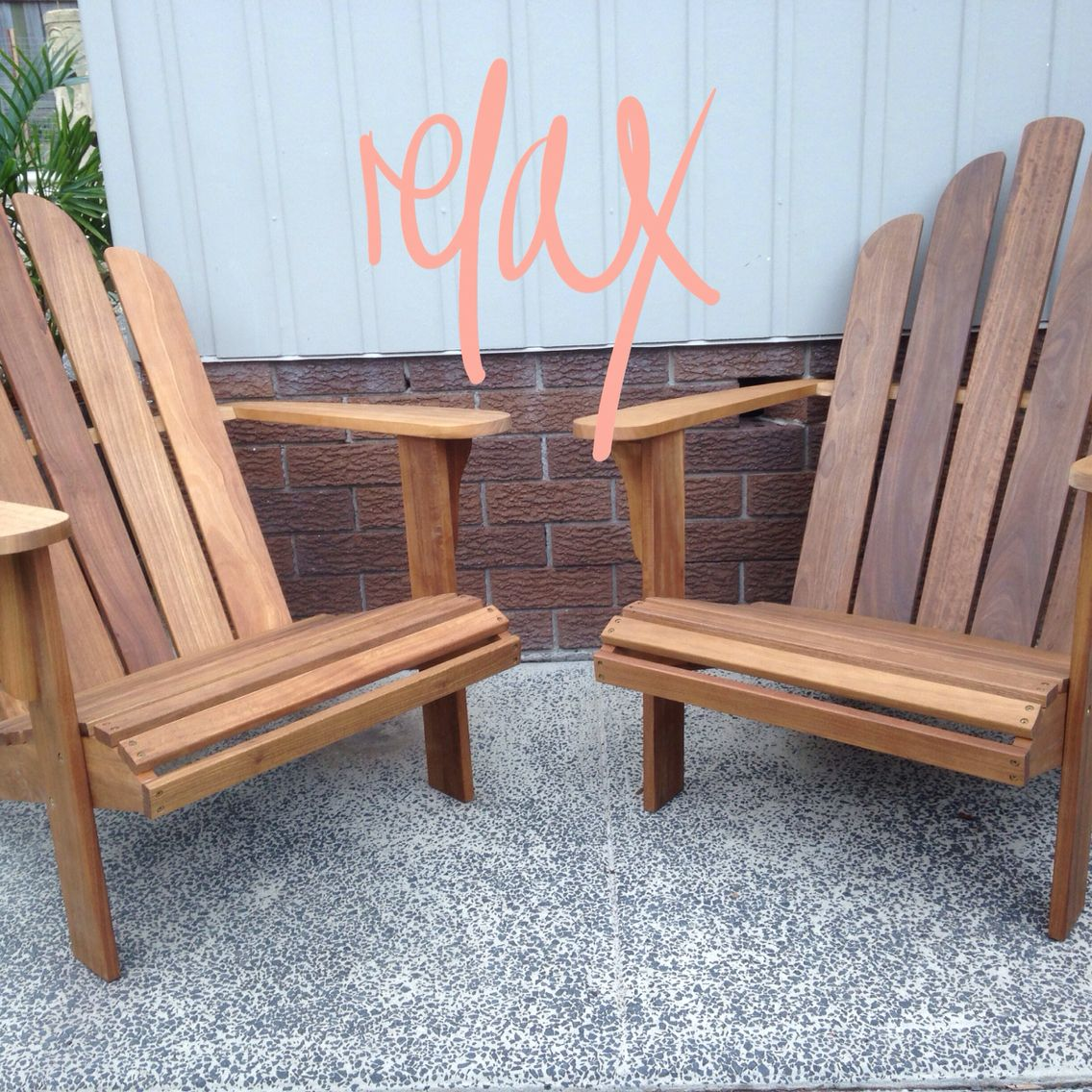 Cape Cod / Adirondack Chairs from Bunnings Warehouse. Just