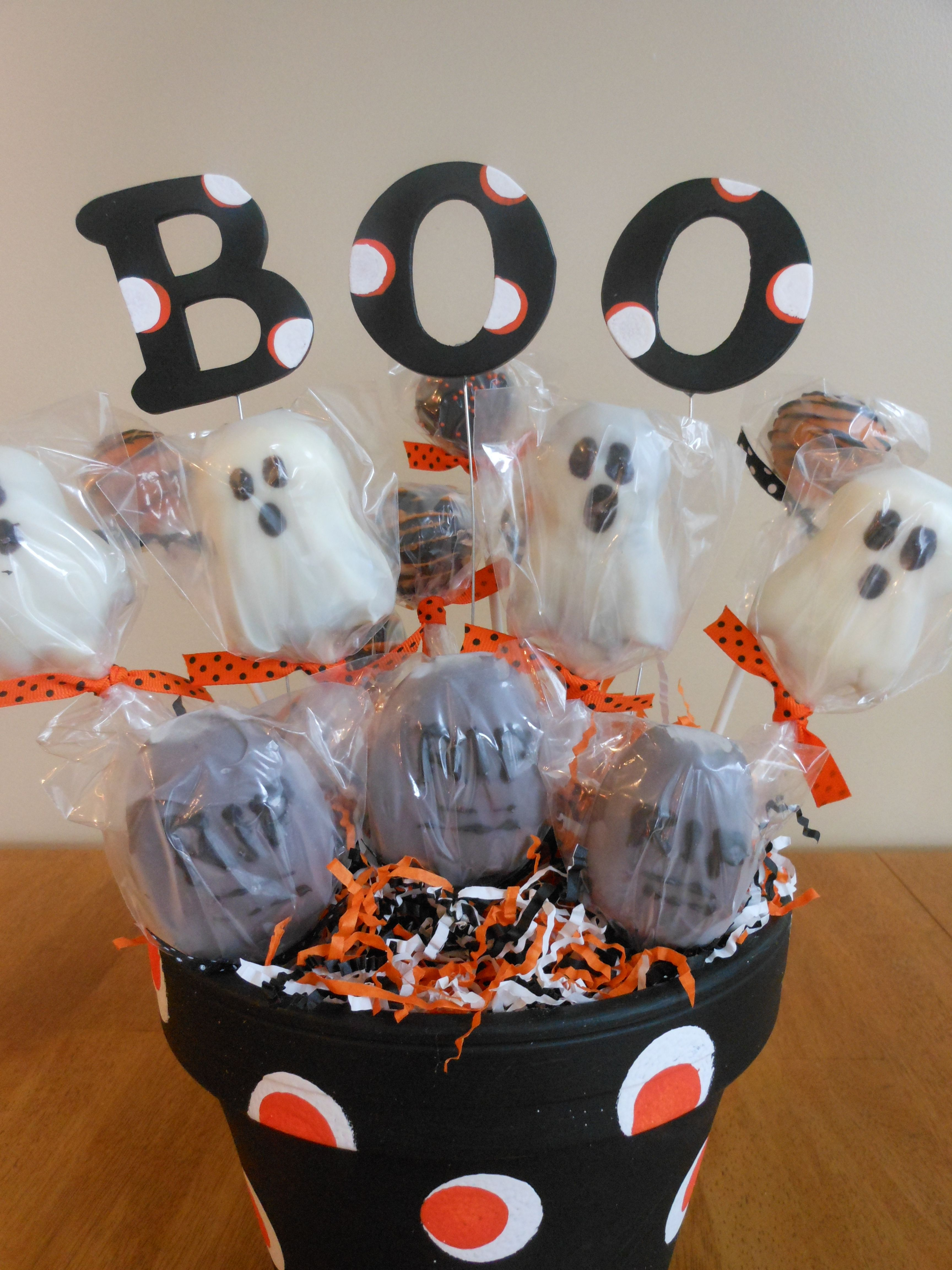 Halloween cake pop basket cake pop displays halloween