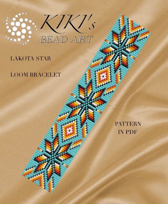bead loom pattern lakota star loom bracelet pdf pattern instant download - Perlen Weben Muster