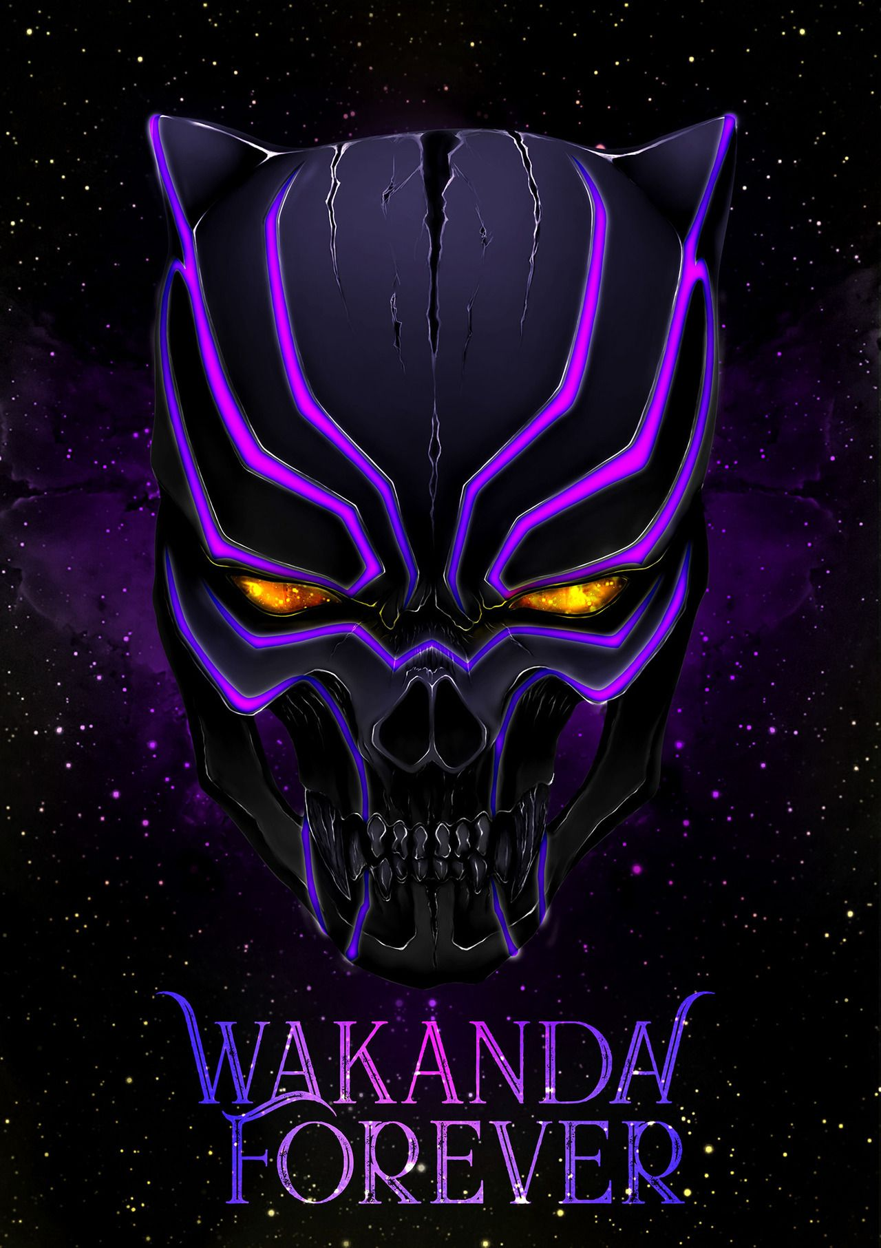 Wakanda Forever Art By Ravin Wong Black Panther Best Iphone Wallpapers Black Panther Art