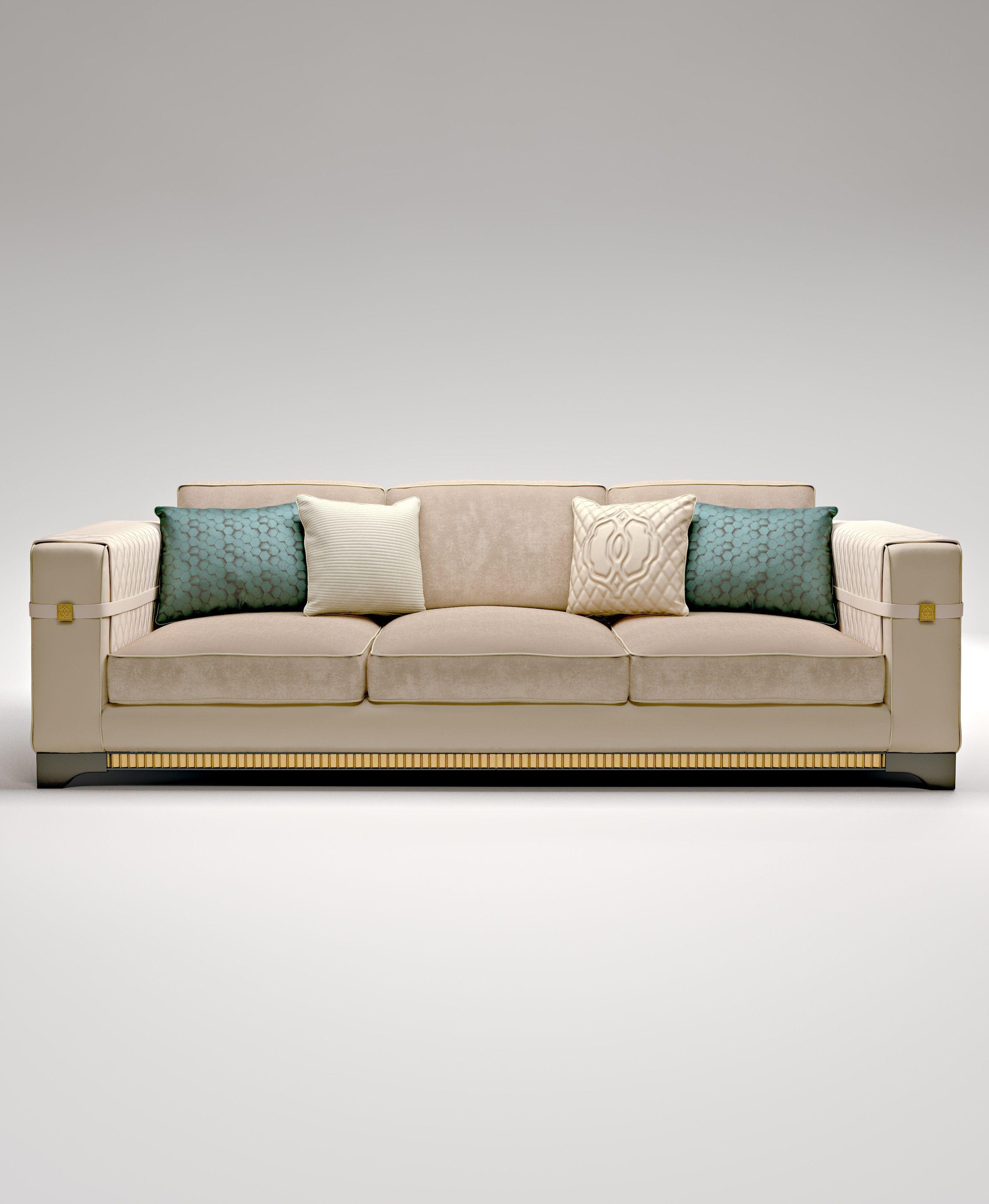 Amazon three seat sofa frame made of solid wood Bruno Zampa