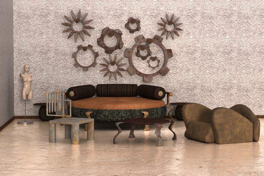 Steampunk Bedroom W.I.P. 6 By Kratzdistel.deviantart.com On @deviantART      Very