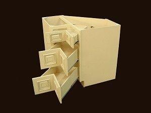 Corner Base Cabinets With Drawers Heritage White Rta Kitchen