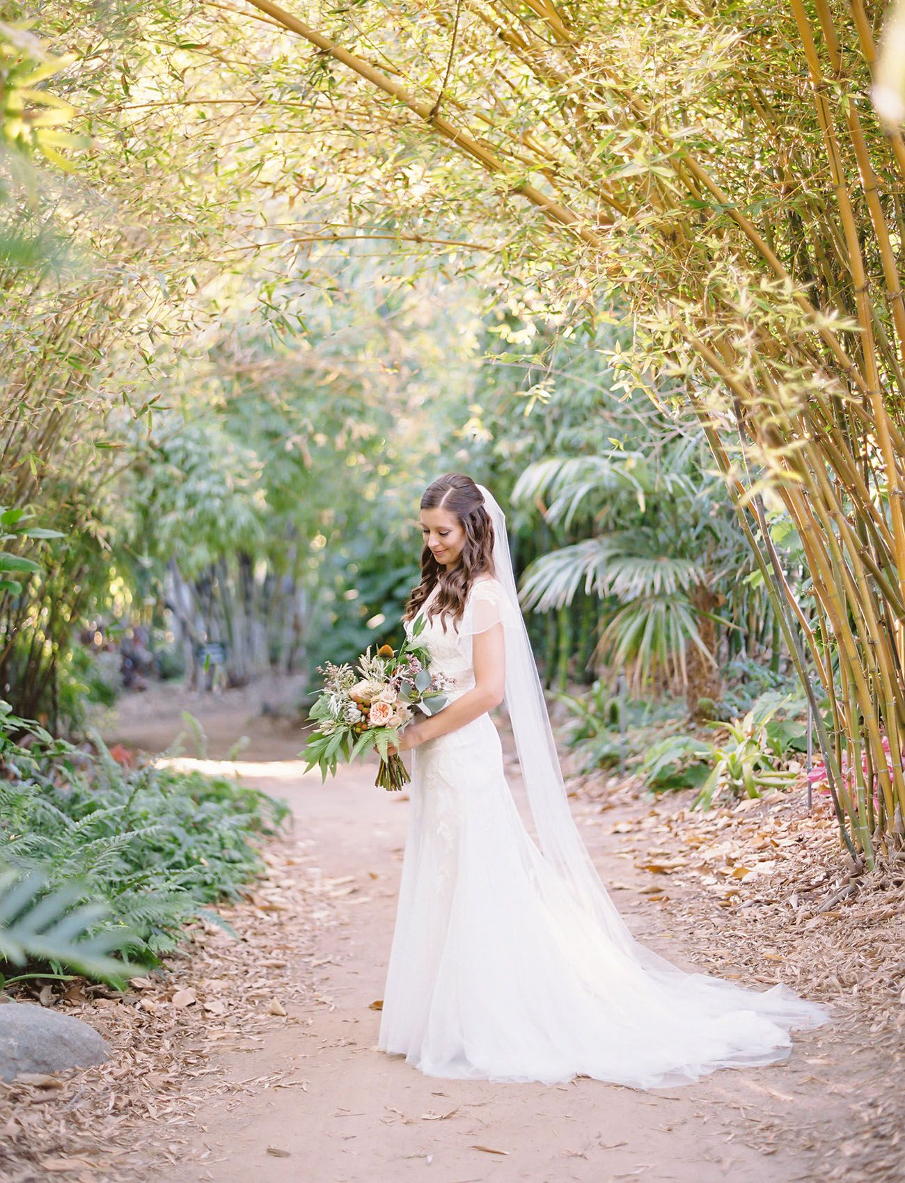 Intimate San Diego Garden Wedding Jackie Matt Bhldn Wedding
