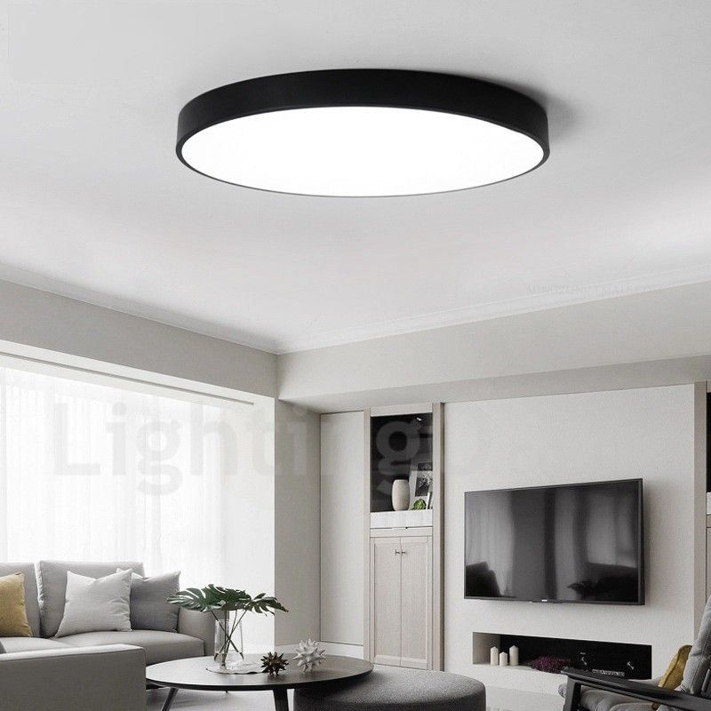 Ultra Thin Dimmable Led Modern Contemporary Nordic Style Flush Mount Ceiling Lights With Acrylic Shade For Bathroom Living Room Study Kitchen Bedroom Dining R In 2020 Ceiling Lights Led Ceiling Lights Lamps Living Room