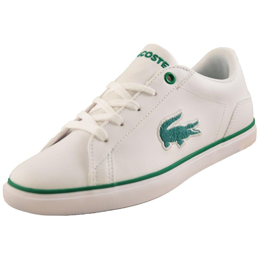 3e4f1f2dc eBay  Sponsored Lacoste Lerond 318 Kids Junior Classic Designer Retro  Trainers White B Grade