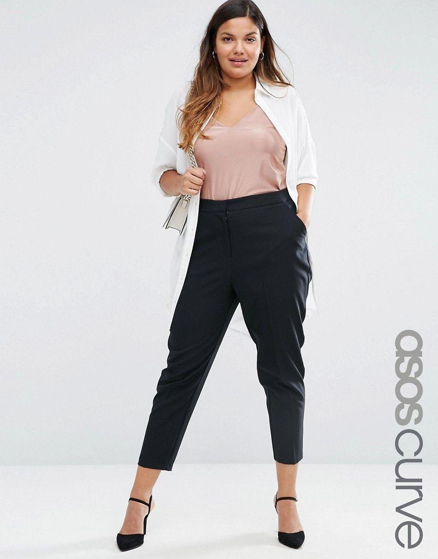 ASOS CURVE - Pantalon skinny longueur cheville   Mode   Pinterest ... 324ca39594b3