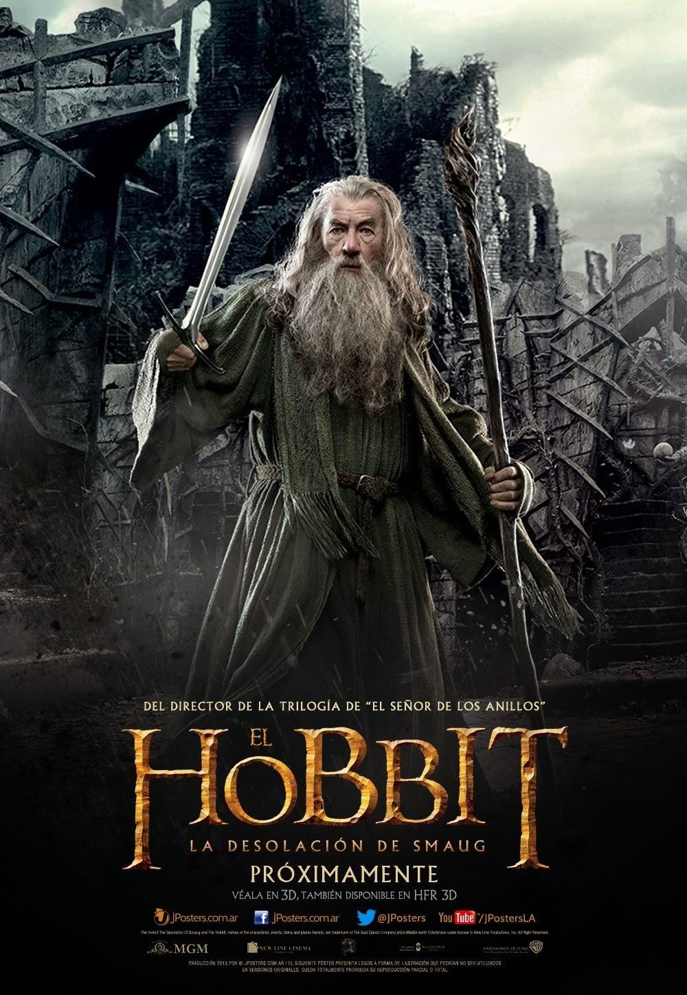Gandalf Hobbit La Desolación De Smaug El Señor De Los Anillos