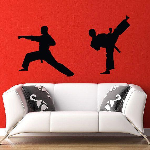 Martial Arts Decals Vinyl Wall Decals Kung Fu Martial Arts Dojo Design
