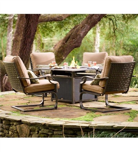 Middleburg Seating Set With Propane Fire Pit Fire Pit ...