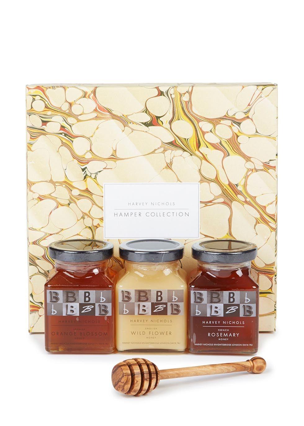 Three of Harvey Nichols\' favourite honeys - Acacia, Wild Thyme and ...