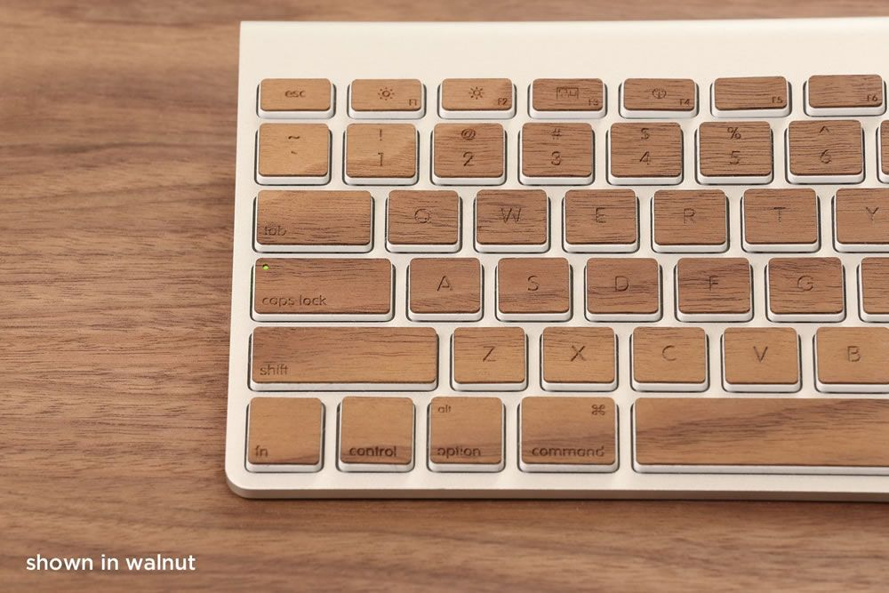 Lazerwood Wood Keys For Apple Keyboards Add A Touch Of Natural Class To Your Mac