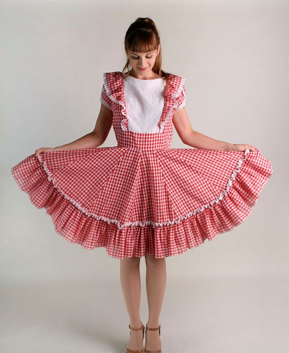 Vintage Gingham Picnic Dress