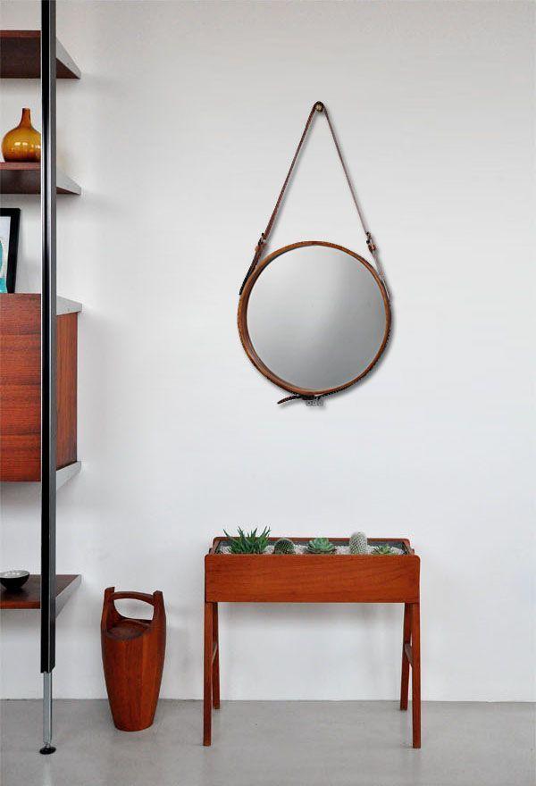 Ronde Spiegel Met Leren Band.8x Spiegels Met Leren Band Home Decor Italianbark Mirror Home