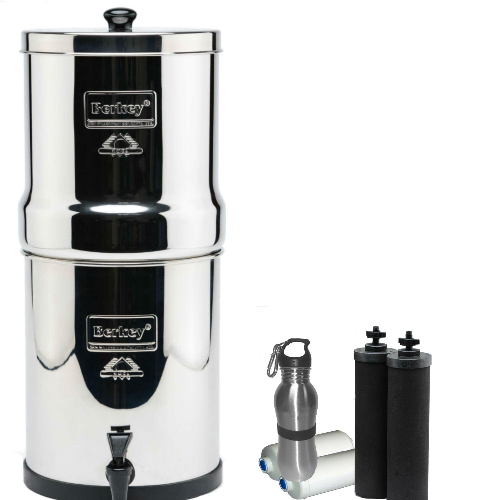 Berkey Big Water Filter 2.5 Gallon System Bundle 2 Black