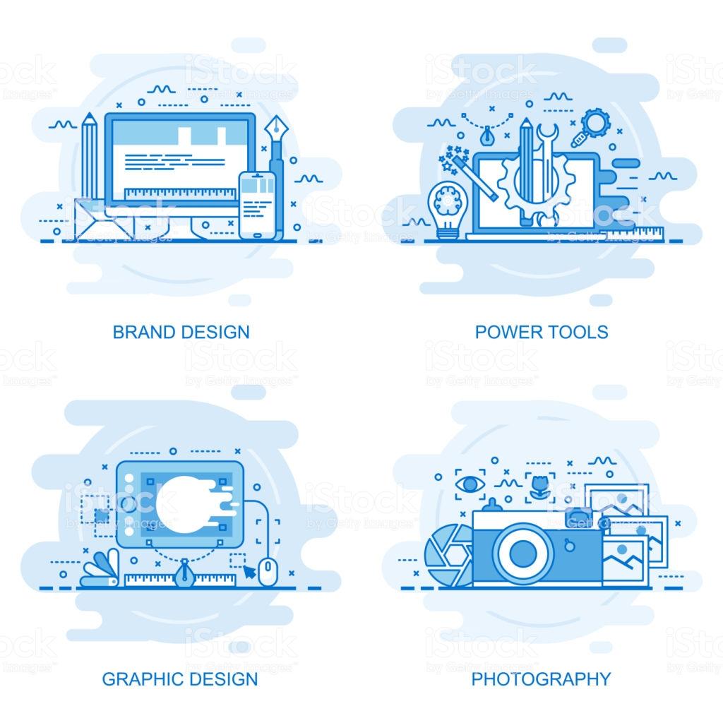 Modern Flat Color Line Concept Web Banner Royalty Free Modern Flat Color Line Concept Web Banner Stock Vector Concept Web Web Banner Graphic Design Photography