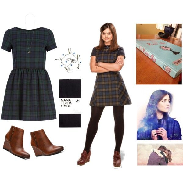 Clara Oswald by imajenate on Polyvore featuring mode, River Island, H&M, Clarks, Topshop, doctorwho, CelebrityStyle, claraoswinoswald and jlc